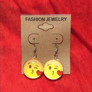 Jewelry - Kissing Smiley Emoji Earrings